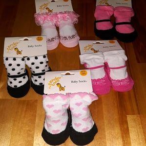 🧦5 Pairs Baby Girl Socks
